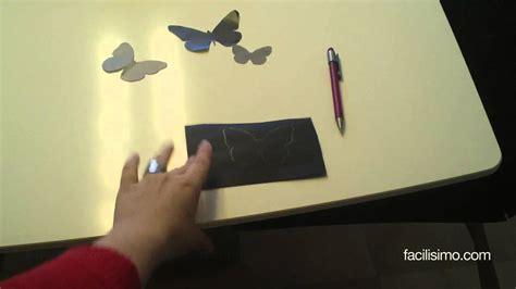 Cómo decorar la pared con mariposas | facilisimo.com - YouTube