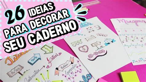 COMO DECORAR O CADERNO E DEIXAR ELE LINDO | TÍTULOS, DATAS ...