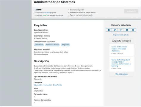 Como denunciar una oferta de empleo en Infojobs