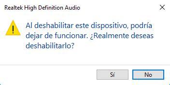 Cómo desactivar altavoces sonido de portátil en Windows 10 ...
