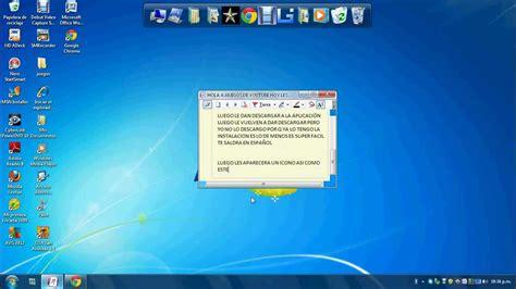 Como descargar barra de tareas de windows 7 para xp   YouTube
