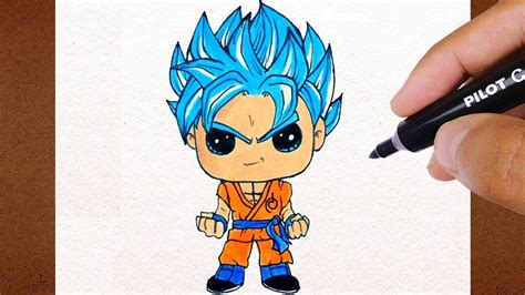 COMO Desenhar GOKU Super Saiyan Blue, Dragon Ball Super ...