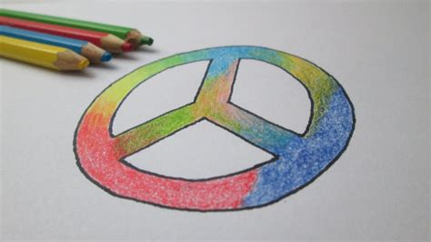 Como desenhar o símbolo da paz  hippie    YouTube
