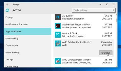 Cómo desinstalar aplicaciones en Windows 10
