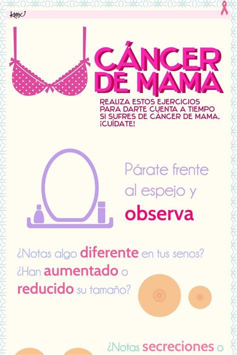 Como detectar el cancer de mama. Infografía. | Infografías ...