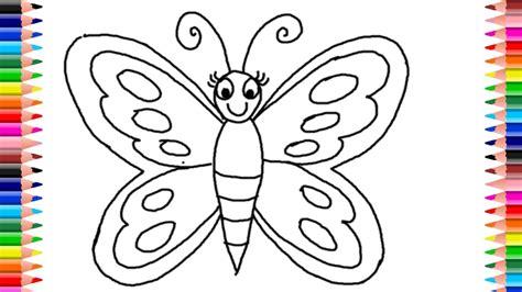 Como Dibuja y Colorea Una Mariposa de Arco Iris - Learn ...