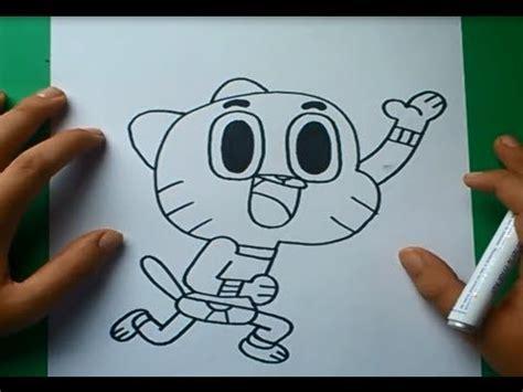 Como dibujar a Gumball paso a paso 2 - El asombroso mundo ...