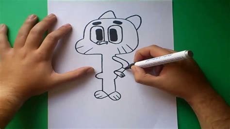 Como dibujar a Gumball paso a paso - El asombroso mundo de ...