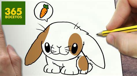 COMO DIBUJAR CONEJITO KAWAII PASO A PASO   Dibujos kawaii ...