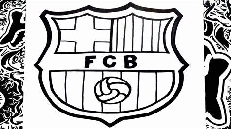 Como dibujar el escudo del Barcelona   how to draw ...