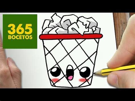 como dibujar kawaii 365 bocetos | COMO DIBUJAR PAPELERA ...
