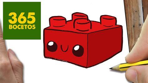 COMO DIBUJAR LEGO KAWAII PASO A PASO - Dibujos kawaii ...