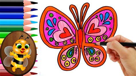 Como Dibujar mariposa de colores Monarca - Dibujo para ...