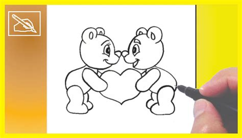Cómo Dibujar Ositos Enamorados   How To Draw Little Bears ...