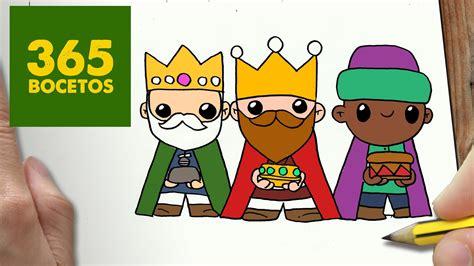 COMO DIBUJAR REYES MAGOS PARA NAVIDAD PASO A PASO: Dibujos ...