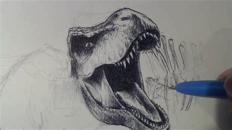 como dibujar t rex   YouTube