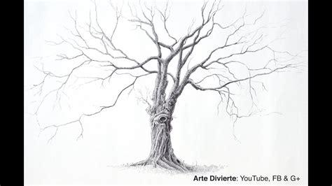 Cómo dibujar un árbol con bolígrafo  Un árbol grande y ...