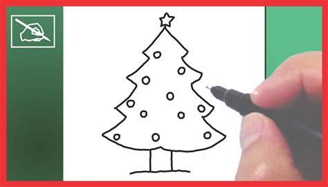 Cómo Dibujar Un Árbol De Navidad   Drawing A Chritmas Tree ...