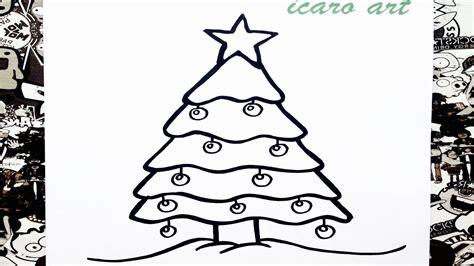 Como dibujar un árbol de Navidad | how to draw a christmas ...