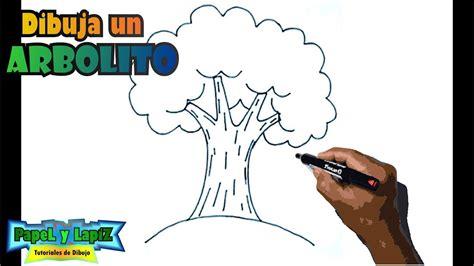 Cómo dibujar un árbol paso a paso   Tree drawing   YouTube