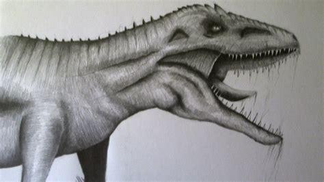 Cómo dibujar un dinosaurio a lápiz paso a paso, dibujando ...
