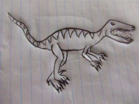 como dibujar un dinosaurio raptor - YouTube