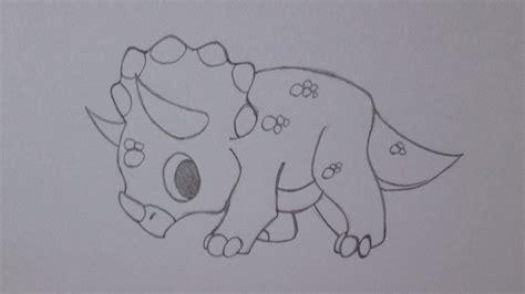 Cómo dibujar un dinosaurio Triceratops - YouTube