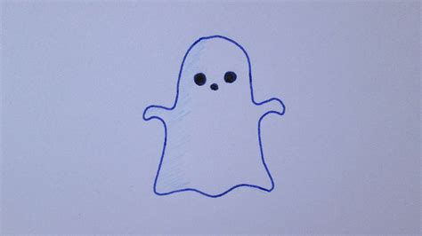 Cómo dibujar un fantasma kawaii   YouTube