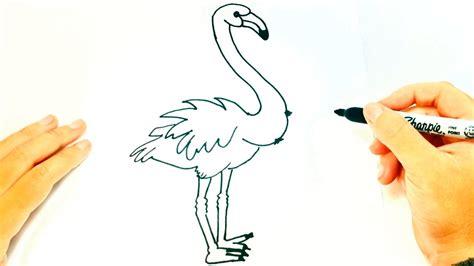 Cómo dibujar un Flamenco paso a paso | Dibujo fácil de ...
