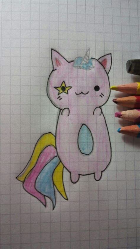 Como dibujar un gaticornio kawaii :3   •Anime• Amino