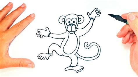 Cómo dibujar un Mono para niños | Dibujo de Mono paso a ...