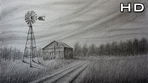 Cómo Dibujar un Paisaje de campo Fácil y Bonito a lápiz ...