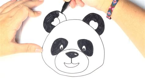 Cómo dibujar un panda para niños | Dibujo Oso Panda paso a ...
