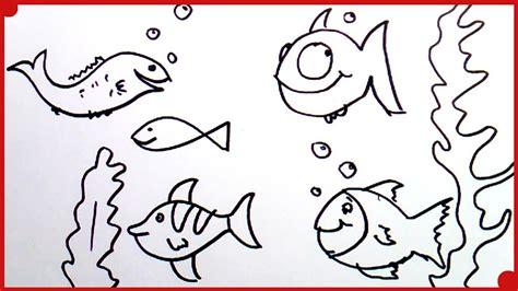 Como Dibujar un Pez muy fácil | how to draw fish very easy ...