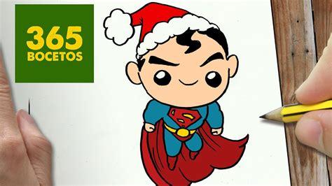 COMO DIBUJAR UN SUPERMAN PARA NAVIDAD PASO A PASO: Dibujos ...