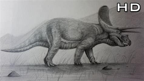 Cómo Dibujar un Triceratops Realista a Lápiz Paso a Paso ...