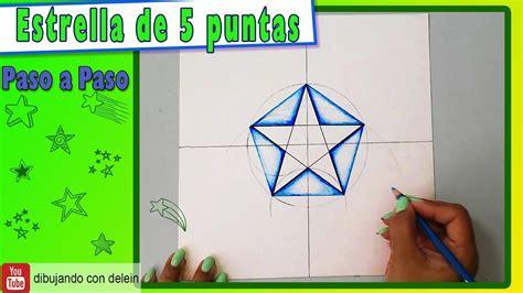 Como dibujar una estrella de 5 puntas, como dibujar un ...