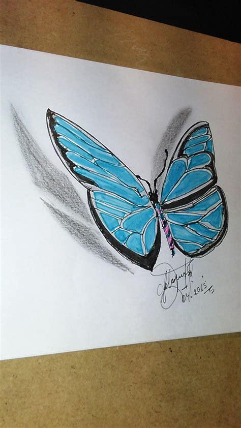 Como dibujar una mariposa 2D para hacer tatuaje, How to ...