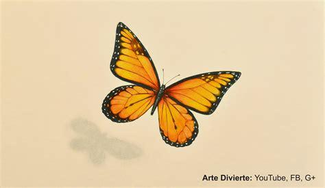 Cómo dibujar una mariposa monarca   Arte Divierte   YouTube