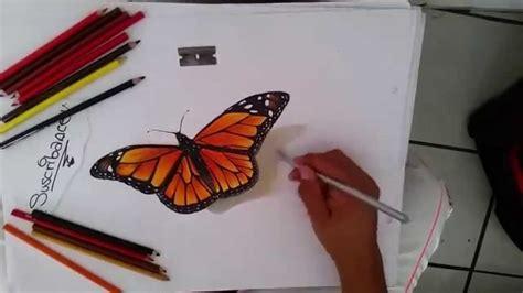 Como Dibujar Una Mariposa Monarca En 3D - YouTube