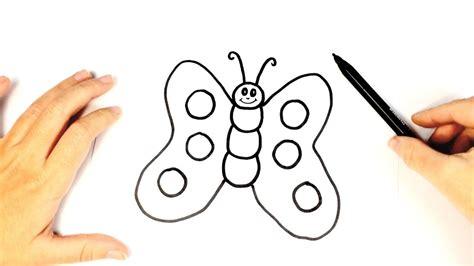 Cómo dibujar una mariposa para niños | Dibujo fácil de una ...