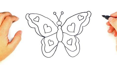 Cómo dibujar una Mariposa paso a paso | Dibujo fácil de ...
