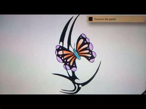 Como dibujar una mariposa tribal - Art Academy Atelier Wii ...