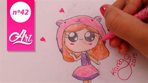 como dibujar una niña kawaii | videos dibujando   YouTube