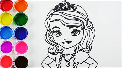 Cómo Dibujar y Colorear Princesa de Arco Iris   Dibujos ...