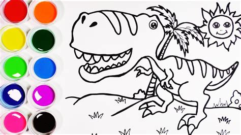Cómo Dibujar y Colorear Un Dinosaurio de Arco Iris ...