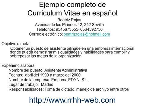 ¿Cómo elaborar un currículum vitae en español y en inglés ...