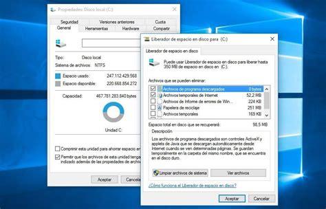 Cómo eliminar archivos temporales tras instalar Windows 10