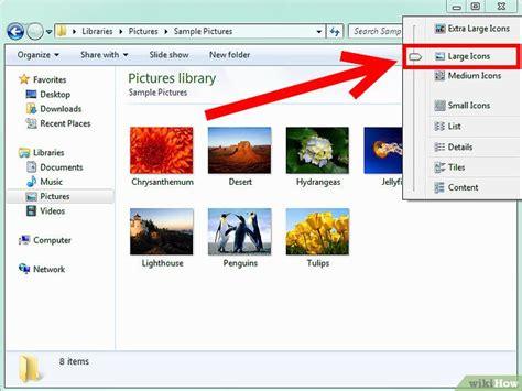 Cómo habilitar la vista de miniaturas en Windows 7