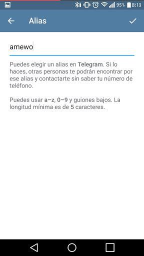 ¿Como hacer alias en Telegram? | beta uprising